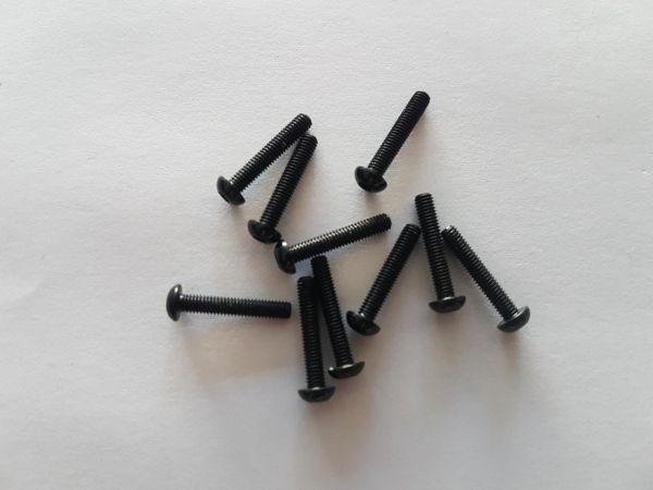 KIT c/ 10 Parafusos Allen M3 X 16mm em Alumínio (COR PRETO)
