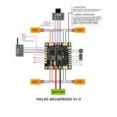PDB HGLRC RROSD BEC 5V / 12V / 3A (C/ OSD Integrado)