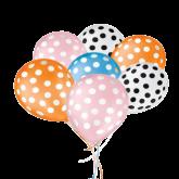 Balão Decorado Bolinhas Nº9 25un