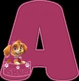 Alfabeto - Patrulha Canina - Skye 3 - PNG
