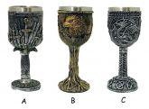 Cálice Taça Caneca Copo Viking Crânios Lobo Caveira Medieval