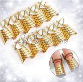 Moldes para unhas de gel, acrigel ou porcelana - 10 und