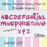 Alfabeto Minúsculo Disney (Mod.4) Marcador de Pasta RV 237