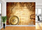 Adesivo de Parede - Mapa Navegação nas Índias