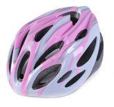 Capacete para bicicleta rosa