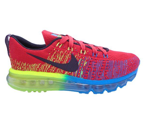 e347ab381b9 Tênis Nike Flyknit Air Max Vermelho e Azul 12136 !SEM ESTOCK ...