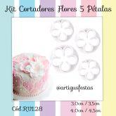Kit Cortadores Flores 5 Pétalas