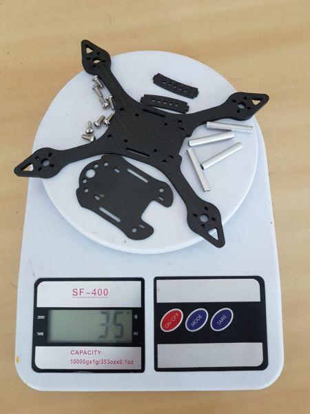 Frame DH E3 133mm  / Botton Plate 3.5mm / Top Plate 1.5mm