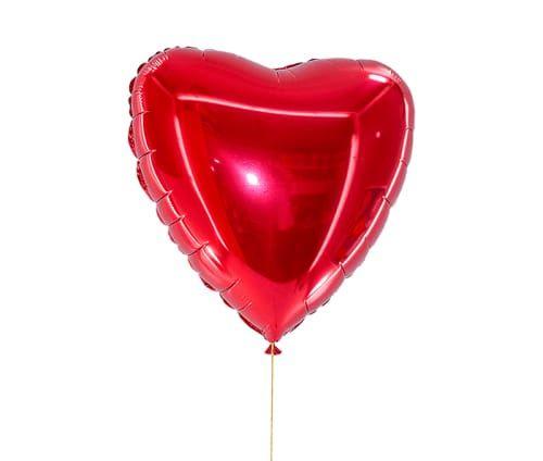 Balão coração vermelho metalizado