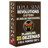 Planilha DUPLA SENA, aposte com 25 dezenas em 3200 jogos 5 ou 6 pontos 100%.
