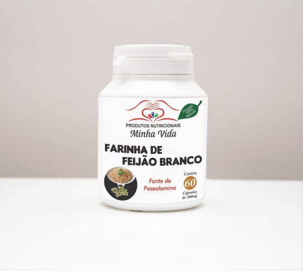 Farinha de Feijão Branco - C/ 60 Cápsulas