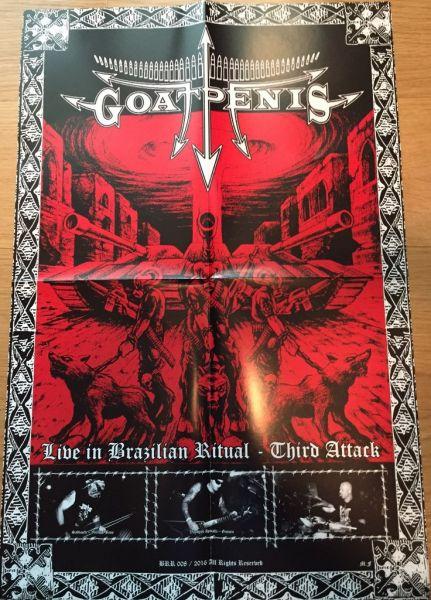 GOATPENIS - LIVE IN BRAZILIAN RITUAL - THIRD ATTACK - LP + POSTER