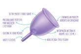 .Novo Violeta Cup - Tamanho A - Incolor