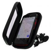 Porta Celular Impermeável Para Bicicleta Moto Com Suporte