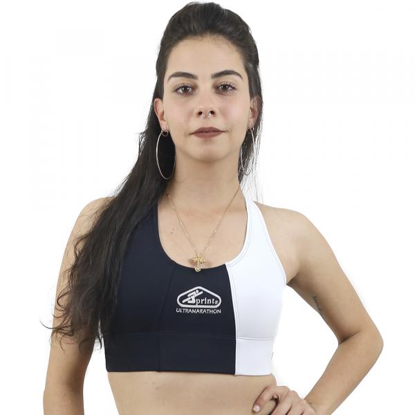 Top Nadador de Compressão Preto e Branco - Emana