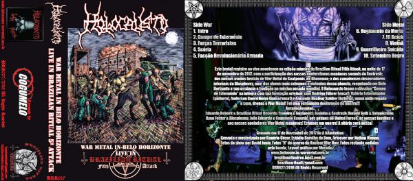 Cassete - Holocausto - War Metal in Belo Horizonte - Live in Brazilian Ritual Fifth Attack