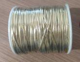 Fio de Couro Dourado 2 mm 100 metros