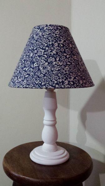 Abajur Arabesco Floral Azul