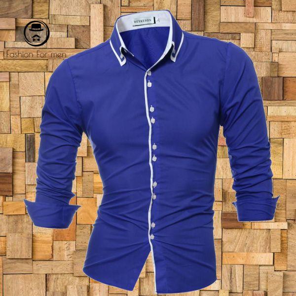 Camisa Manga Longa Azul Bic