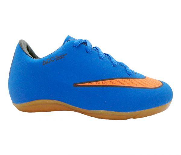 1c369160e4 Chuteira Infantil Futsal Marca Nike Mercurial Victory 5 na cor Azul Marinho  - Frete Grátis