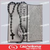 062040 - Terço de Hematita com Oração de São Jorge