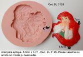 molde aplique princesa Ariel -