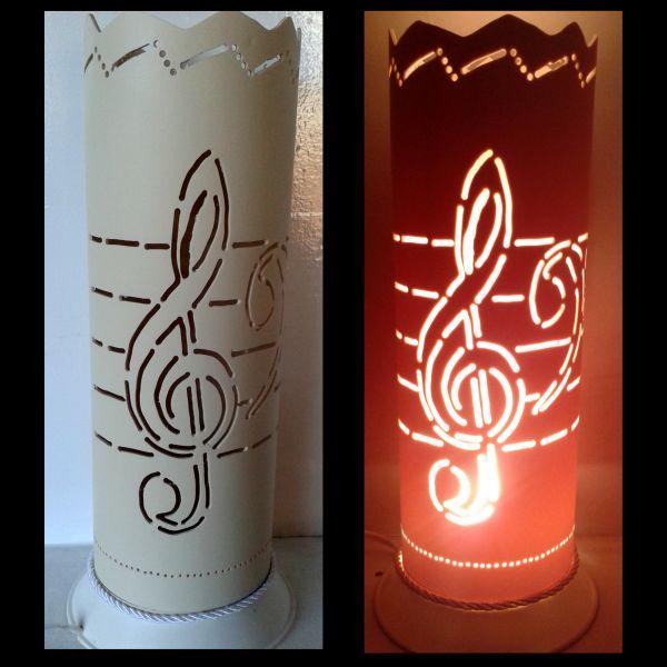 Artesanato Com Garrafa Pet Para Pascoa ~ Luminária em PVC Nota Musical 028 TRA u00c7O DE LUZ