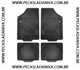 Tapete de Borracha p/ Niva jogo c/ 4 pçs (novo) Ref.0631