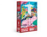 Postais do Brasil – Monumentos – Quebra Cabeça 500 peças Nano