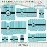 Kit Toalete Azul Tiffany com Preto