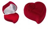 Estojo de veludo para anel e brincos, em Uberlândia, modelo EAG17, formado coração