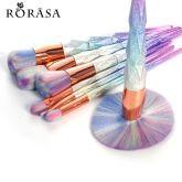 Pinceis de Maquiagem Profissional Definida Rainbow Fio Lidar