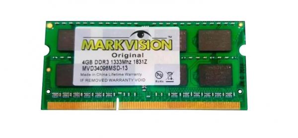Memória 4gb 1333mhz Ddr3 Note Markvision  Sodimm