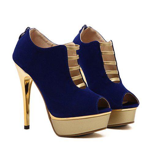 bb90153492 Sapatos Aberto Sensual Projeto de Salto Alto à Frente - Linha Vip ...