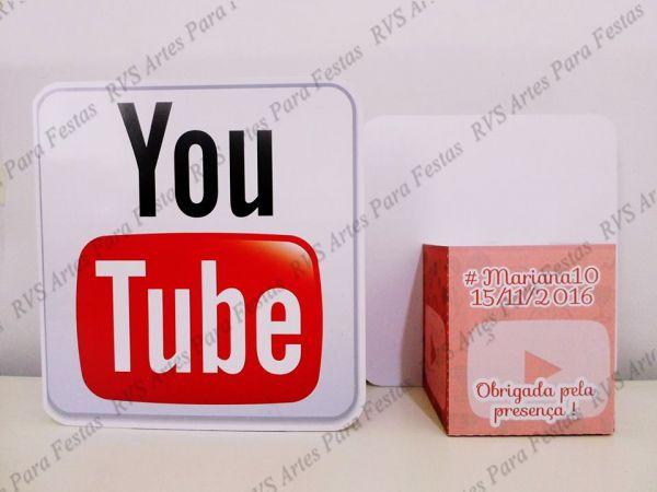 10 Centros de mesa - tema rede sociais - Youtube