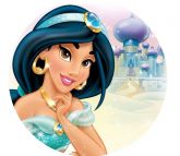 Papel Arroz Princesa Jasmine Redondo 007 1un