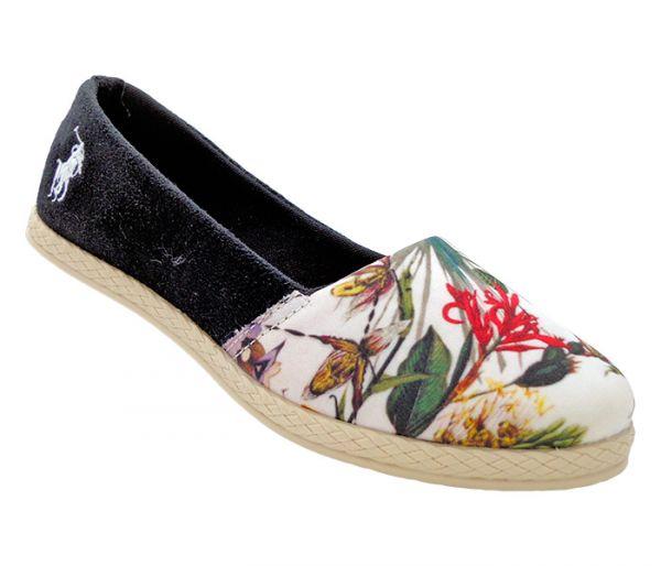 37773475c9240 Sapatilha Alpargata Polo Ralph Lauren Preto Floral - App Box