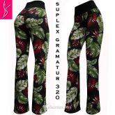 calça flare ou reta estampa floral(46),cintura alta,suplex 320