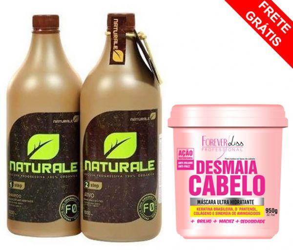 .NATURALE 1000ML + MÁSCARA DESMAIA CABELO