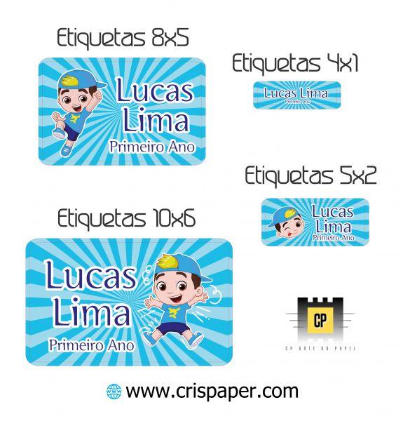 Kit Etiqueta Escolar Lucas Neto Menino Cris Paper Arte No Papel