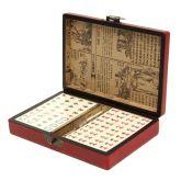 Mahjong Com Maleta Estilizada Jogo Chinês Portátil 20cm