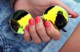 Óculos Redondo Amarelo (Espelhado)