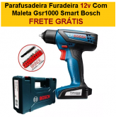 Parafusadeira Furadeira 12v Com Maleta Gsr1000 Smart Bosch + FRETE GRÁTIS