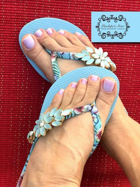 Havaianas Azul Letícia