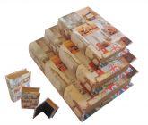 Caixa Livro Decorativo London City- 3 Peças Madeira