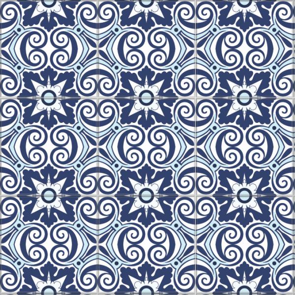 Adesivo De Onça ~ Adesivo Azulejo Hidráulico Portugu u00eas Tons de Azul Azulejo 020 Mania Que Cola Adesivos