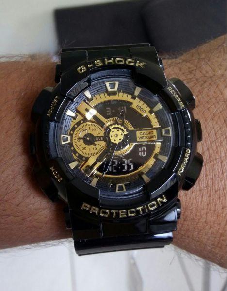 f4b4f7d53c0 Relogio Masculino G shock Replica Preto e Dourado - DO GRINGO
