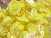 Flor de EVA Amarela 3-4cm