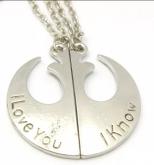 Colar Duplo Star Wars - I Love You - I Know
