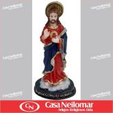 044029 - Imagem de Resina Sagrado Coração de Jesus 12 cm
